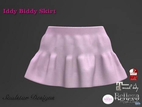 3f93e56338 Iddy Biddy Pink Skirt 1L Promo Gift by Soulstar Designs | Teleport Hub -  Second Life Freebies