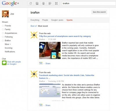 Google adds +1 feature Image Search   Content Marketing Journal   Scoop.it