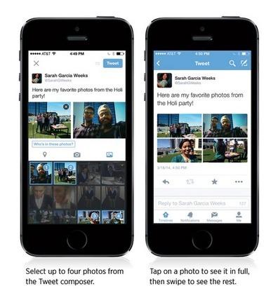 Twitter : nouveautés, la photo taguée et 4 photos par tweet | Médias sociaux et tout ça | Scoop.it