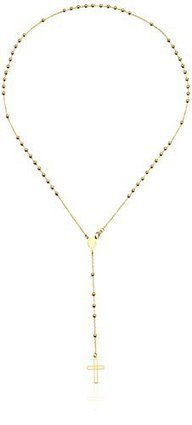 b6429665af792 14K Yellow Gold Italian Rosary Necklace