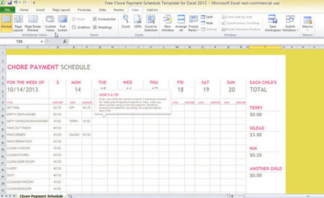 Free Chore Payment Schedule Template For Excel