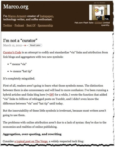 """Curator's Code proposal receives pushback: """"I'm not a 'curator' """" critic complains 