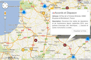 La Google Map des musiciens | L'actualité de la guitare | Scoop.it
