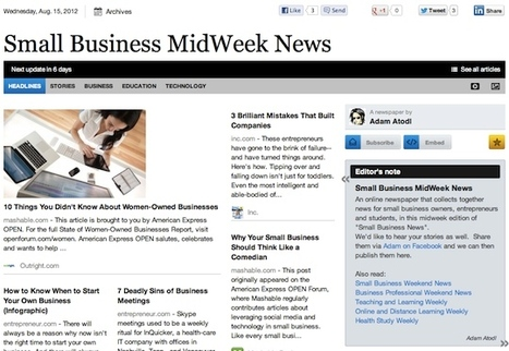 Aug 15 - Small Business MidWeek News | Business Updates | Scoop.it