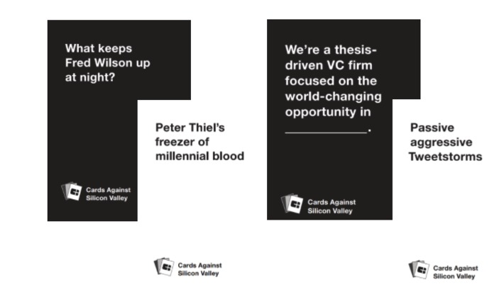 Cards Against Silicon Valley: the next best office party game for #techStartups? via @cbInsights | Digital Transformation of Businesses | Scoop.it