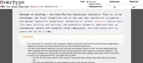 OverType. Une vraie machine à écrire à ruban dans votre ordinateur. – Best Outils | Les outils du Web 2.0 | Scoop.it
