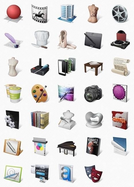 Art Professions Icon Set (34 Icons, PNG)   Smashing Magazine   Webdesign Freebies   Scoop.it