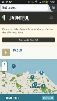 En vadrouille, l'application Jauntful permet de créer son guide de voyage ! | Le marketing digital du tourisme | Scoop.it