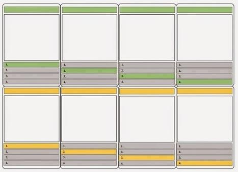 Word-sjabloon: Maak je eigen kwartetspel. | Nieuwsbrief H. van Schie | Scoop.it