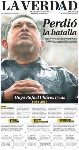 Las mejores portadas sobre la muerte de Chávez   Conocimiento libre y abierto- Humano Digital   Scoop.it