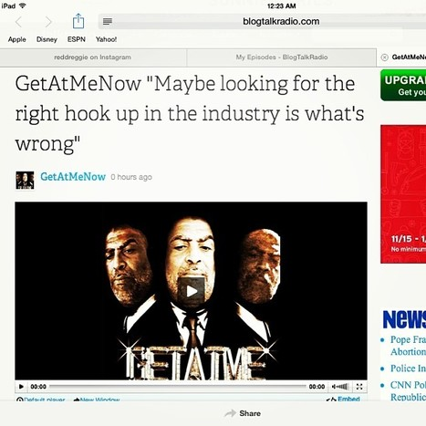 "GetAtMe- TheGetAtMeNowShow on blogtalkradio.com Topic ""Maybe looking for the right hook up in the industry......  (www.blogtalkradio.com/getatmenow) 