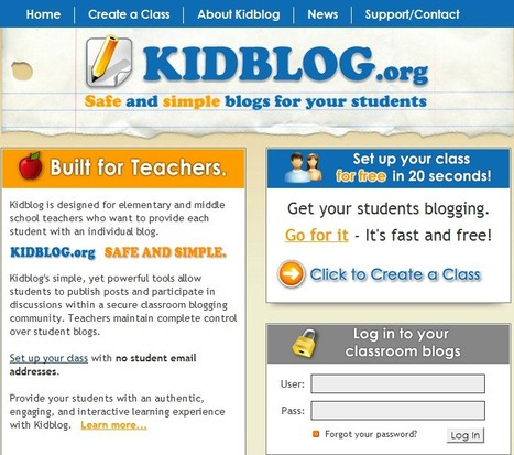 Kidblog - Blogs for Teachers and Students | Information Technology Learn IT - Teach IT | Scoop.it