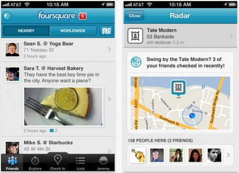 """Foursquare Updated - Adds """"Foursquare Radar"""" For iOS 5 Users 