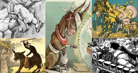 Teaching With Cartoons - A Visual History Of Donkeys, Elephants, Parties, & Politics | Design in Education | Scoop.it