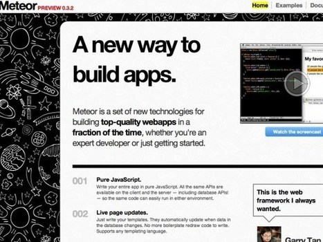 Web developers: Watch out for Meteor! | Meteor | Scoop.it