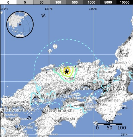 M6.2 - 8km S of Kurayoshi, Japan | Japan Tsunami | Scoop.it