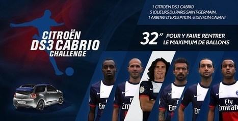 Le PSG et Citroën réactivent leur partenariat avec la DS3 Cabrio Challenge | Coté Vestiaire - Blog sur le Sport Business | Scoop.it
