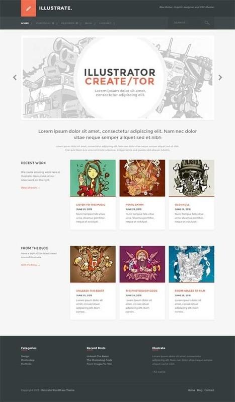 Illustrate, WordPress Responsive Portfolio Blog Theme   WP Download   Premium WordPress Themes Download   Scoop.it
