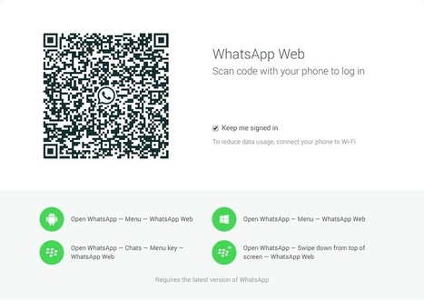 WhatsApp lanza cliente Web para Google Chrome • Gadgeteros | MLKtoSCL | Scoop.it