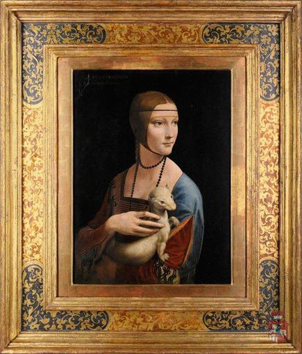 """Résultat de recherche d'images pour """"la dame à l'hermine tableau"""""""