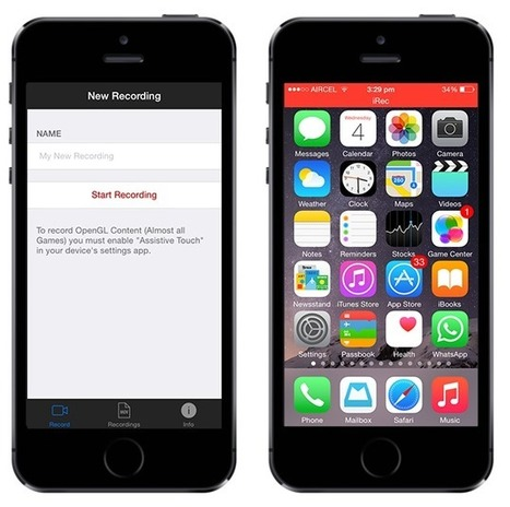How to record your iPhone, iPad screen | In the Library and out in the world | Scoop.it