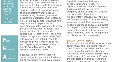 Leadership in Turbulent Times, A Neuroscientific Explanation.pdf | DOORs to Leadership and Change | Scoop.it