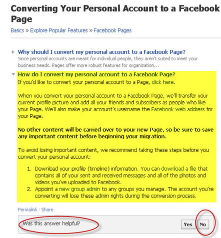 How to Convert a Facebook Personal Profile to a Fan Page | WEBOLUTION! | Scoop.it
