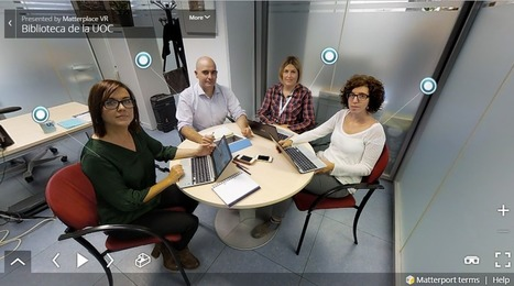 El personal de la Biblioteca UOC se presenta en realidad virtual | REALIDAD AUMENTADA Y ENSEÑANZA 3.0 - AUGMENTED REALITY AND TEACHING 3.0 | Scoop.it