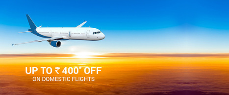 Via Com Flight Booking Offers :- Rs. 400 OFF On Domestic Flight Tickets [VIADOM] - Free Discount Codes | Coupons, deals & offers, free recharge, unlimited money tricks, loot deals etc. | Scoop.it