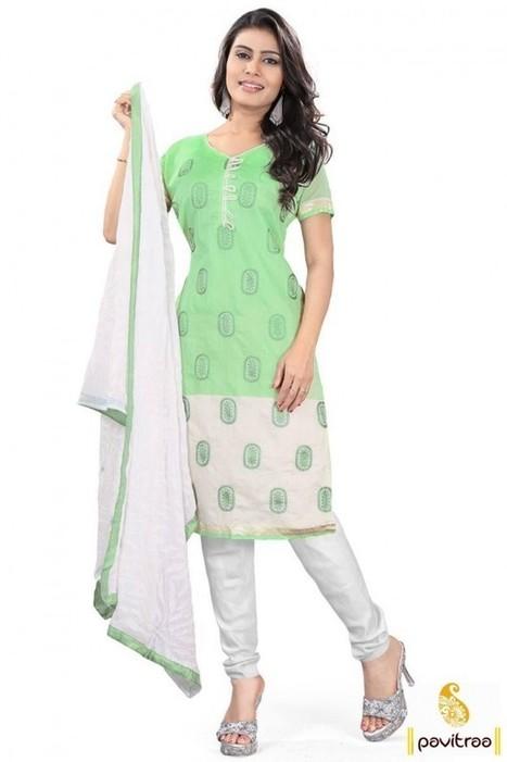 13d201e24d Watermelon Clothing Fashion Sea Green White Cotton Dress Material