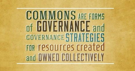 New Virtual Think Tank Studies How to Govern Knowledge Commons   P2P Foundation   Peer2Politics   Scoop.it