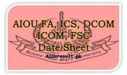AIOU Tutor Letter Names 2017-18 Matric FA BA MA