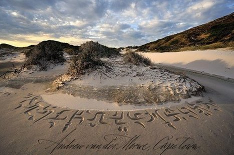 World's First Beach Calligrapher Makes Cape Town Beaches Even More Beautiful | Texas Coast Living | Scoop.it