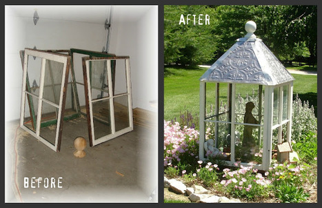Tin Roof and recycled windows = Greenhouse | Upcycled Garden Style | Scoop.it