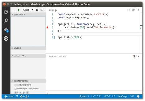 Debugging a ES6 Node js application in a Docker
