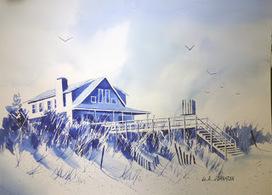 Watercolor sketches - Litchfield Beach & Pawleys Island | Explore Pawleys Island | Scoop.it