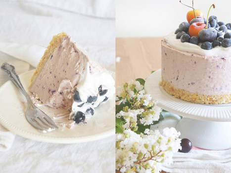Cherry-Blueberry Summer Cheesecake. #Food #Recipe   The Man With The Golden Tongs Hands Are In The Oven   Scoop.it