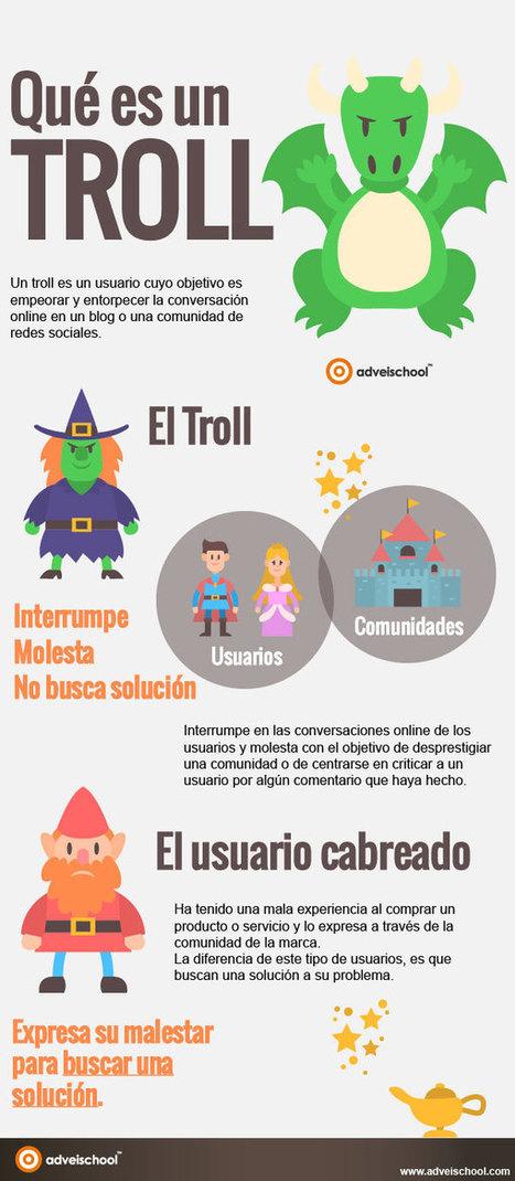 ¿Qué es un troll? (infografía) | Educació i seguretat a la xarxa | Scoop.it