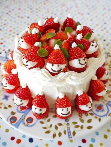 Easy and Cute Homemade Holiday Cake ♥ DIY Christmas Strawberry Santa Cake  #1910236 | Christmas Goodies | Scoop.it