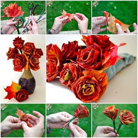 Creative Ideas – DIY Beautiful Maple Leaf Rose | iCreativeIdeas.com | Annie Haven | Haven Brand | Scoop.it