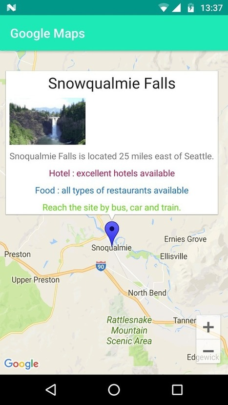 Google Maps Android Custom Info Window Example