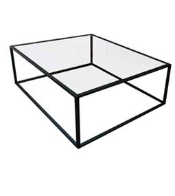 Dadra mesas de centro hierro forjado y madera for Cristal mesa a medida