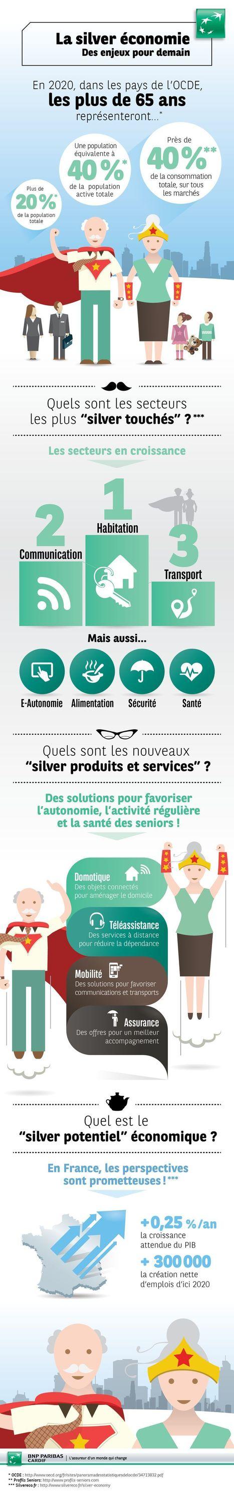 [infographie] La silver économie, des enjeux pour demain par @bnpp_cardif | Silver Economie | Scoop.it