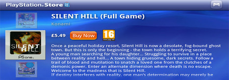 Playstation Store gets a bunch of new games including Silent Hill ... | Everything Gaming | Scoop.it