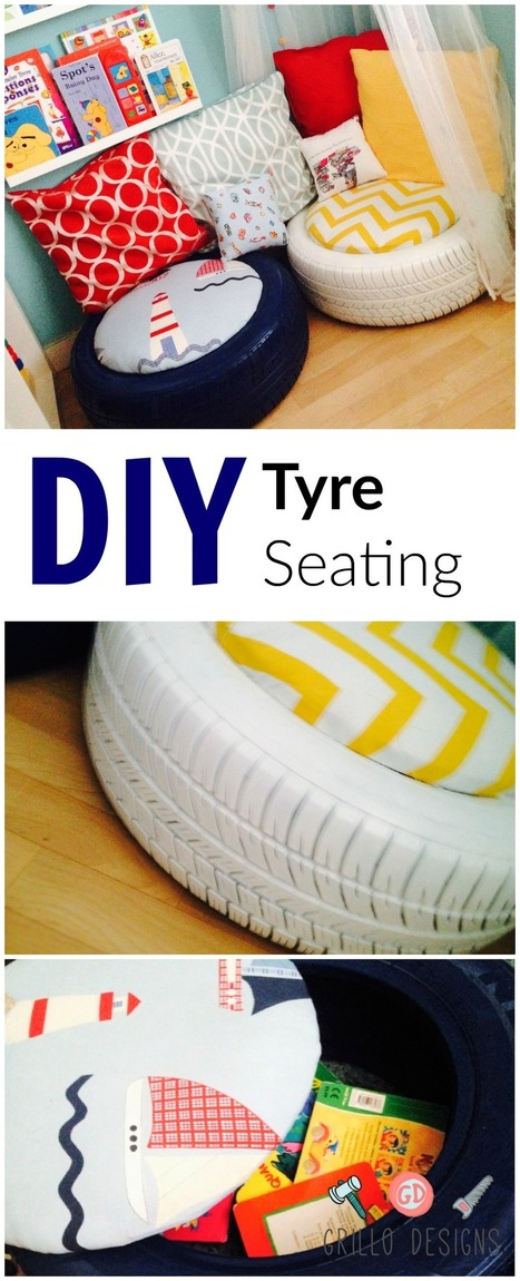 DIY KIDS TYRE SEATING | Upcycled Objects | Scoop.it