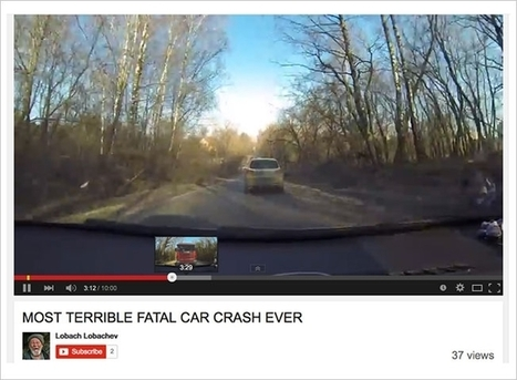 Ingenious 'Fatal Car Crash' Video on YouTube Shows an Accident Only If You Fast-Forward | Financial | Scoop.it