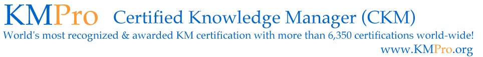 Certified Knowledge Manager (CKM)