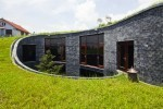 Vo Trong Nghia's Modern Blue Stone House Sports a Rising Green Roof in Viet Nam   Vertical Farm - Food Factory   Scoop.it