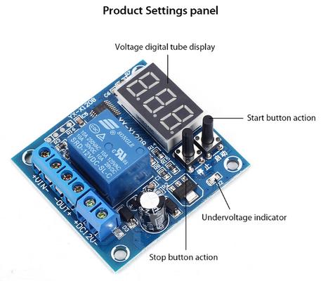Undervoltage Control Module LED Display Charge