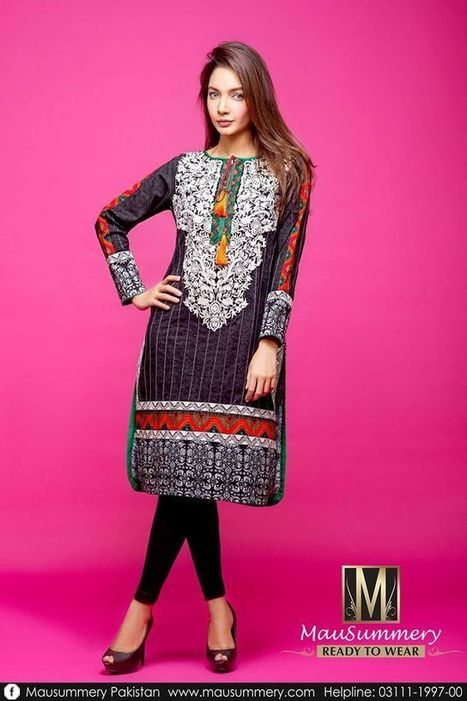 Mausummery Latest Ready To Wear Winter Dresses